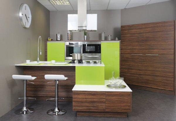 Dtsg tri courrier cuisines for Meuble cuisine vert pomme